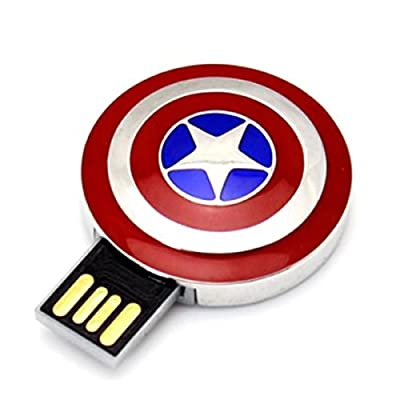 Portronics Metal Avengers shield USB (8 GB) POR 455