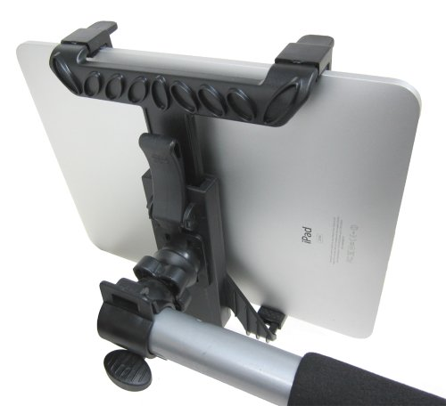 "Chargercity Ipad Ipad 2 Ipad 3 Universal Tablet Handle Bar Mic Microphone Stand Shopping Cart Bicycle Wheelchair Golf Push Cart Mount (Fits All Standard Handle Bar From .75"" To 1"")"