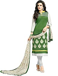 ShivFab Present All New Formal Wear Embroidered Green Color Dress Meterial.(COTTON DRESS) ANGROOP DAIRYMILK VOL_10