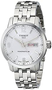 Tissot Men's T0554301101700 PRC 200 Analog Display Swiss Automatic Silver Watch