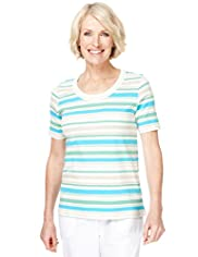 Classic Collection Pure Cotton Striped Top