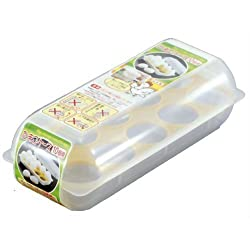 Japanese Stackable Plastic Egg Storage Case #8012 by JapanBargain