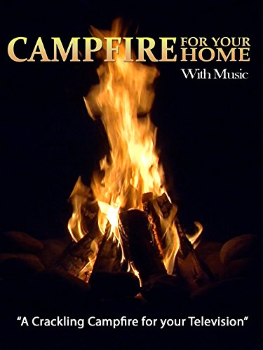 Evening Crackling Campfire with Music
