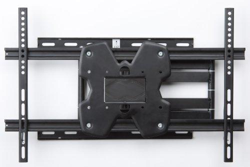 Displays2Go Lcwm805L Swivel Tv Mount Black Metal Wall Lcd Flat Screen Rack For 37-55 Inches Screens