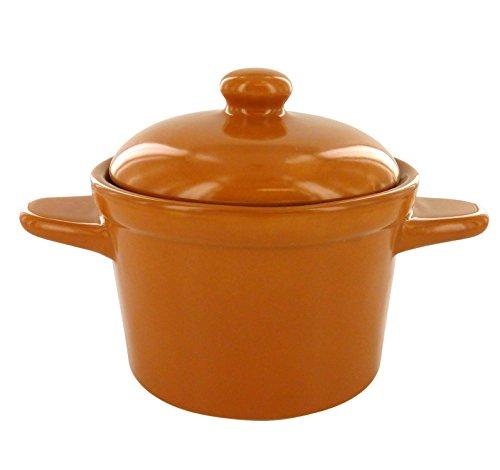 Bols à Soupe en Céramique à Couvercle Marron - Lot de 4