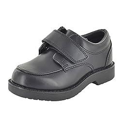 School Issue Junior Moc 2300 H&L Loafer (Toddler/Little Kid/Big Kid),Black Leather,8.5 M US Toddler