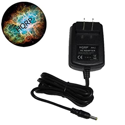 HQRP Wall Travel AC Power Adapter / Battery Charger for Audiovox D1718 / D1730 / D1830 DVD Player Replacement plus HQRP Coaster