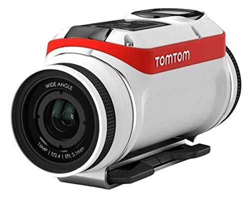 Tomtom Bandit Aventura Pack - Cámara deportiva de acción aventura ( Video 4K, 16 MP, 1080p/60 fps, 720p/120 fps, GPSš), sensor integrado, impermeable, Wi-Fi, color blanco-rojo