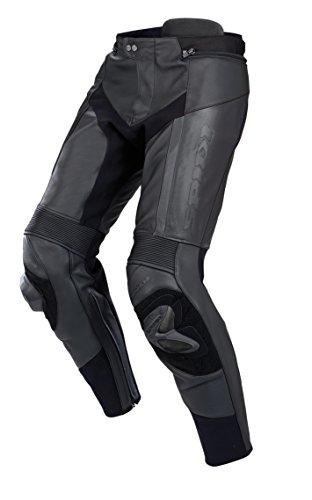 SPIDI - Pantaloni da Moto in Pelle RR PRO, Nero, 56