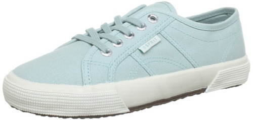 ESPRIT Italia Lace Up Low Top Women Turquoise Türkis (mint 333) Size: 7.5 (41 EU)