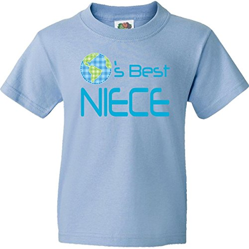 Inktastic Big Boys' Worlds Best Niece Youth T-Shirts Youth Large Light Blue