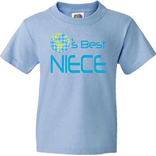 Inktastic Big Boys' Worlds Best Niece Youth T-Shirts Youth Medium Light Blue