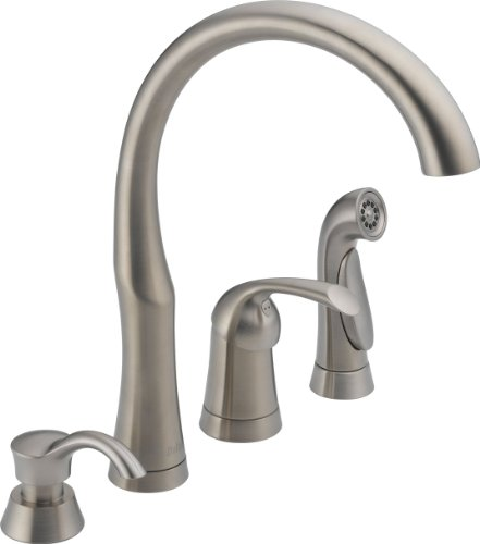 commercial kitchen faucets delta 11946 sssd dst bellini series brilliance stainless