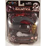 Battlestar Galactica Minimates Mini-Flyers Battle Damaged Cylon Raider With Exclusive Red Stripe Cyl