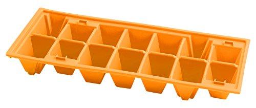 Home Confezione 2 Formaghiaccioli in Plastica, Forma Piramide, 14 Posti, Multicolore