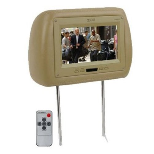 Absolute Com850Irc 8.5-Inch Tft Lcd Monitor Loaded In Beige Leather Headrest With Built-In Ir Transmitter, Beige (Priced Individually)