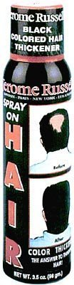 Jerome Russell - Hair Color Thickener Spray - 3.5 Oz. Jet-black