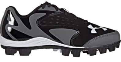 Kids Under Armour Leadoff Low RM JR Baseball Cleat Black/Charcoal Size 11C