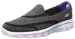 Skechers Kids 81052L Go Walk 2 Athletic Sneaker,Black,4 M US Big Kid