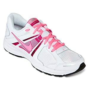 Nike Dart 10 Running Shoes - Women athletic sneakers white (9.5)  White/Fusion Pink/Silver/Digital Pink