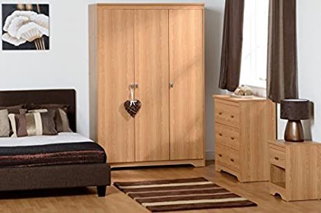 Regent 3 Door 3 Drawer Bedroom Set in Teak Effect Veneer
