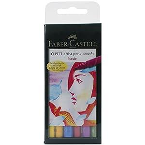 Faber-Castell Pitt Artist Brush Pen Wallet - (Pack of 6)