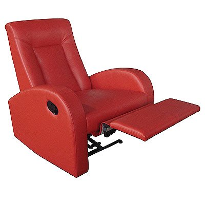 LPD Furniture Miami Recliner Chair, In Red