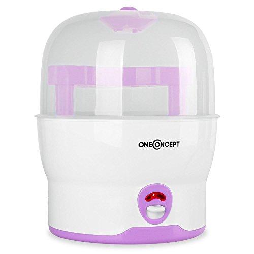 oneConcept-MomMe-Prince-Sterilisator-Wasserdampf-Vaporisator-Auskocher-fr-Babyflaschen-Desinfektionsgert-fr-6-Flaschen-ohne-Chemikalien-500-Watt-pink