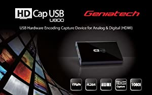 Geniatech New HD Cap U800 Usb Box Capture For HDMI, HD 1080i Video With Crystal Clear Sound And HD Snapshot Supports PAL/SECAM/NTSC