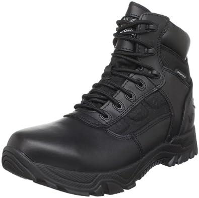 Men's Thorogood 6 inch Waterproof Side - zip Boots Black, BLACK, 4