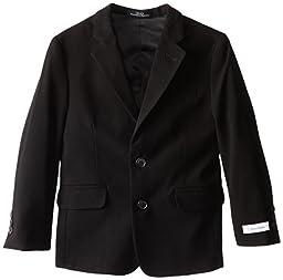 Calvin Klein Little Boys\' Bi-Stretch Blazer, Black, 6