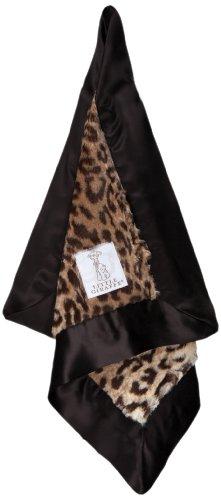 Little Giraffe Luxe Leopard Blanky, Espresso