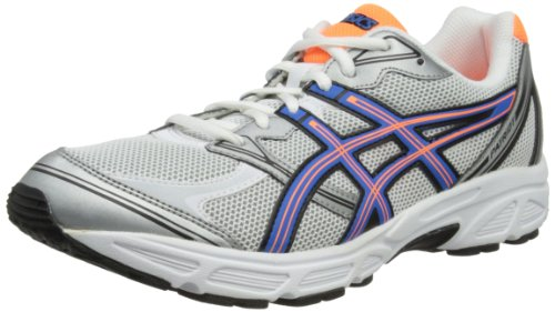 Asics Mens Patriot 6 M White/Blue/Neon Orange Running Shoes T3G0N 0142 10 UK, 45 EU