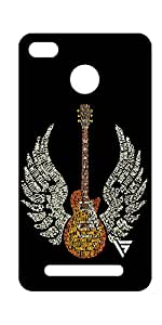 Vogueshell flying guitar Printed Symmetry PRO Series Hard Back Case for xiaomi Redmi 3s