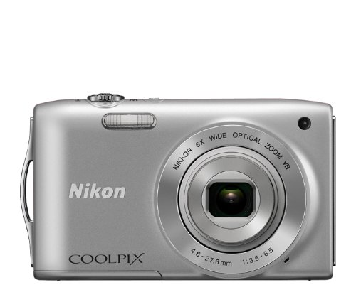 Discover Bargain Nikon COOLPIX S3300 16 MP Digital Camera with 6x Zoom NIKKOR Glass Lens and 2.7-inch LCD (Silver)