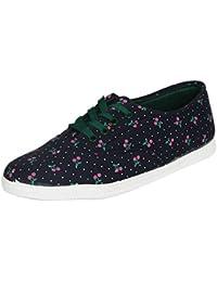 Footshez Women's Casual Blue & Green Shoe