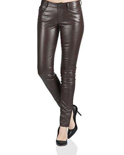 Seven7 LA Pantalone Mira Medium Rise Skinny Marrone W26L32
