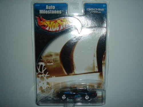 2002 Hot Wheels Auto Milestones Dodge Viper RT/10 Dark Blue