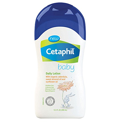 Cetaphil Baby Daily Lotion with Organic Calendula, Sweet Almond Oil and Sunflower Oil, 13.5 Ounce - 1