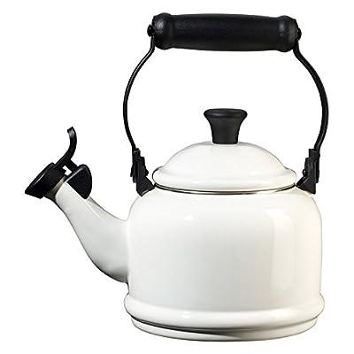 Le Creuset Demi 1.25-qt. Enamel on Steel Whistling Teakettle - White