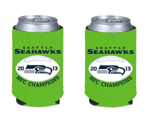 2013 - 2014 Seattle Seahawks NFC Conference Champions NFL Can Kaddy Holder Koozie 2-Pack at Amazon.com