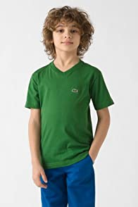 Boy's Short Sleeve Classic Jersey V-Neck T-Shirt