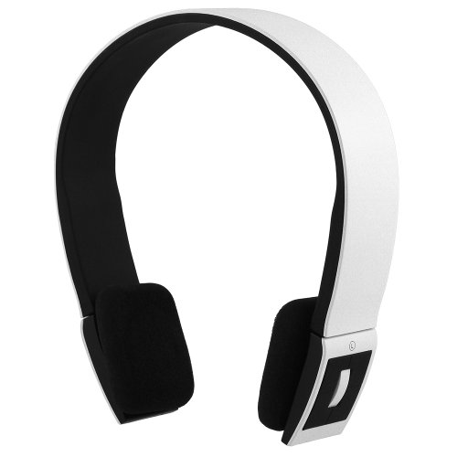 Chromo Inc® Smoove Series Stereo Bluetooth Wireless Headphones With Microphone (White)
