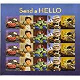 """Send a Hello Disney Pixar US Forever Stamps Pane of 20 newly tagged """"automotive"""""""