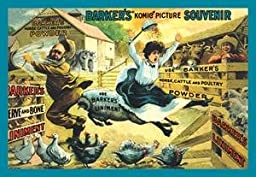 Paper poster printed on 20 x 30 stock. Barker\'s Komic Picture Souvenir: Farm Ruckus