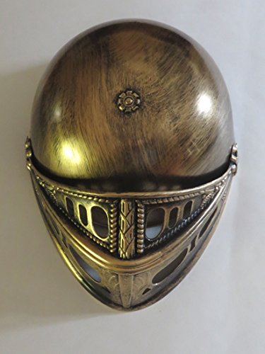Black Knight Goldtone Helmet - Child Plastic - Medieval Costume