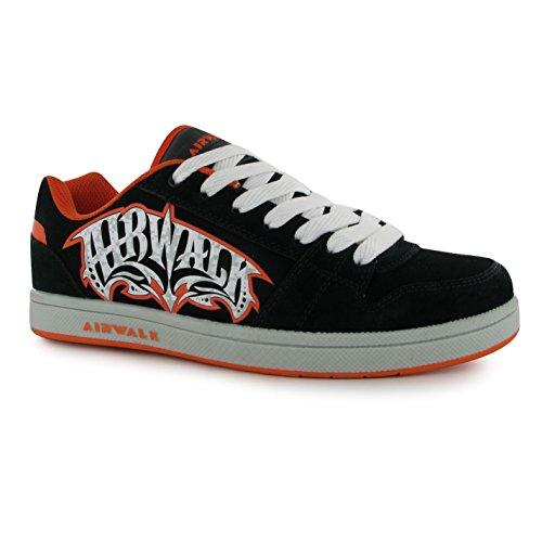 airwalk-triplex-kinder-jungen-skate-schuhe-freizeit-sport-sneaker-turnschuhe-black-orange-3-36