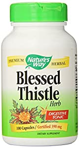 Nature's Way Blessed Thistle Herb -- 100 Capsules