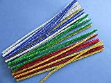 30 Assorted Tinsel Pipe Cleaners Glitter Craft Pipecleaners