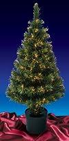 58242 Pre-Lit Color Changing Fiber Optic Artificial Christmas